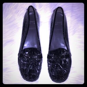 Stuart Weitzman Black Leather Loafer Driving 9.5